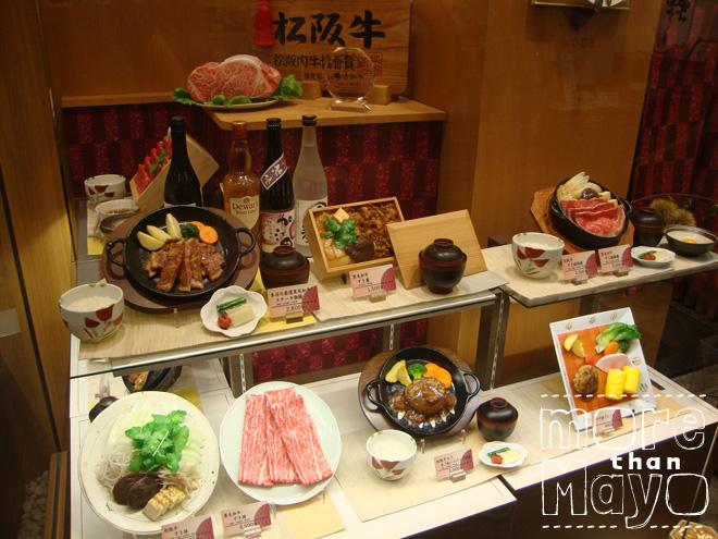 Food replica's in Japan