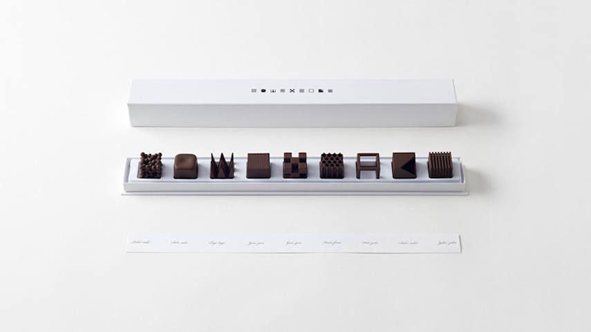 Feed your mind: Download delicious desserts - the rise of 3D foodprinting - www.morethanmayo.com/3d-foodprinting   image: nendo's 3D printed chocolates, source: designindaba.com