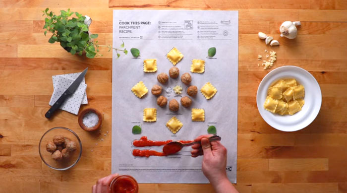 What's cooking: Ikea's recipe paper - the future of cooking - www.morethanmayo.com/ikea-recipe-paper | image: recipe paper filled, source: boredpanda.com