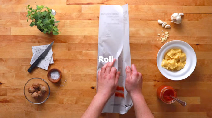 What's cooking: Ikea's recipe paper - the future of cooking - www.morethanmayo.com/ikea-recipe-paper | image: recipe paper roll, source: boredpanda.com