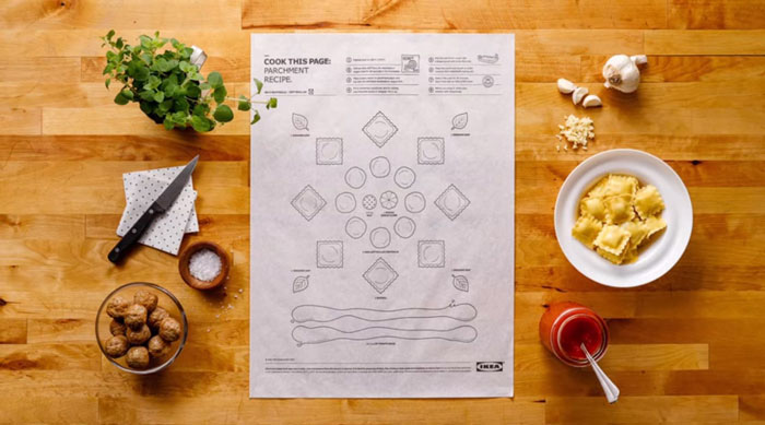 What's cooking: Ikea's recipe paper - the future of cooking - www.morethanmayo.com/ikea-recipe-paper | image: recipe paper sheet, source: boredpanda.com