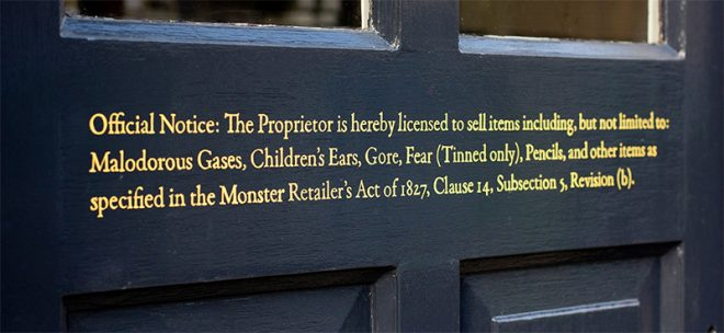 Experience case: Hoxton Street Monster Supplies - www.morethanmayo.com/hoxton-street-monster-supplies | image: door notice - source: monstersupplies.org