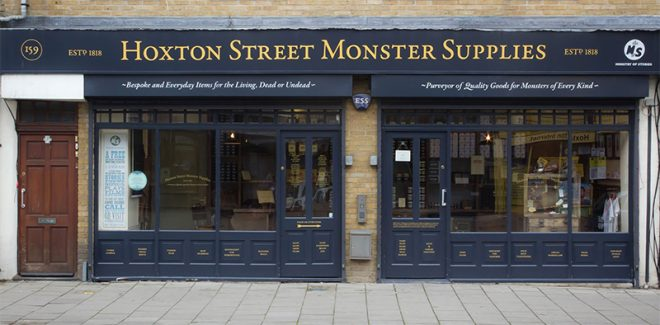 Experience case: Hoxton Street Monster Supplies - www.morethanmayo.com/hoxton-street-monster-supplies | image: shop window - source: monstersupplies.org