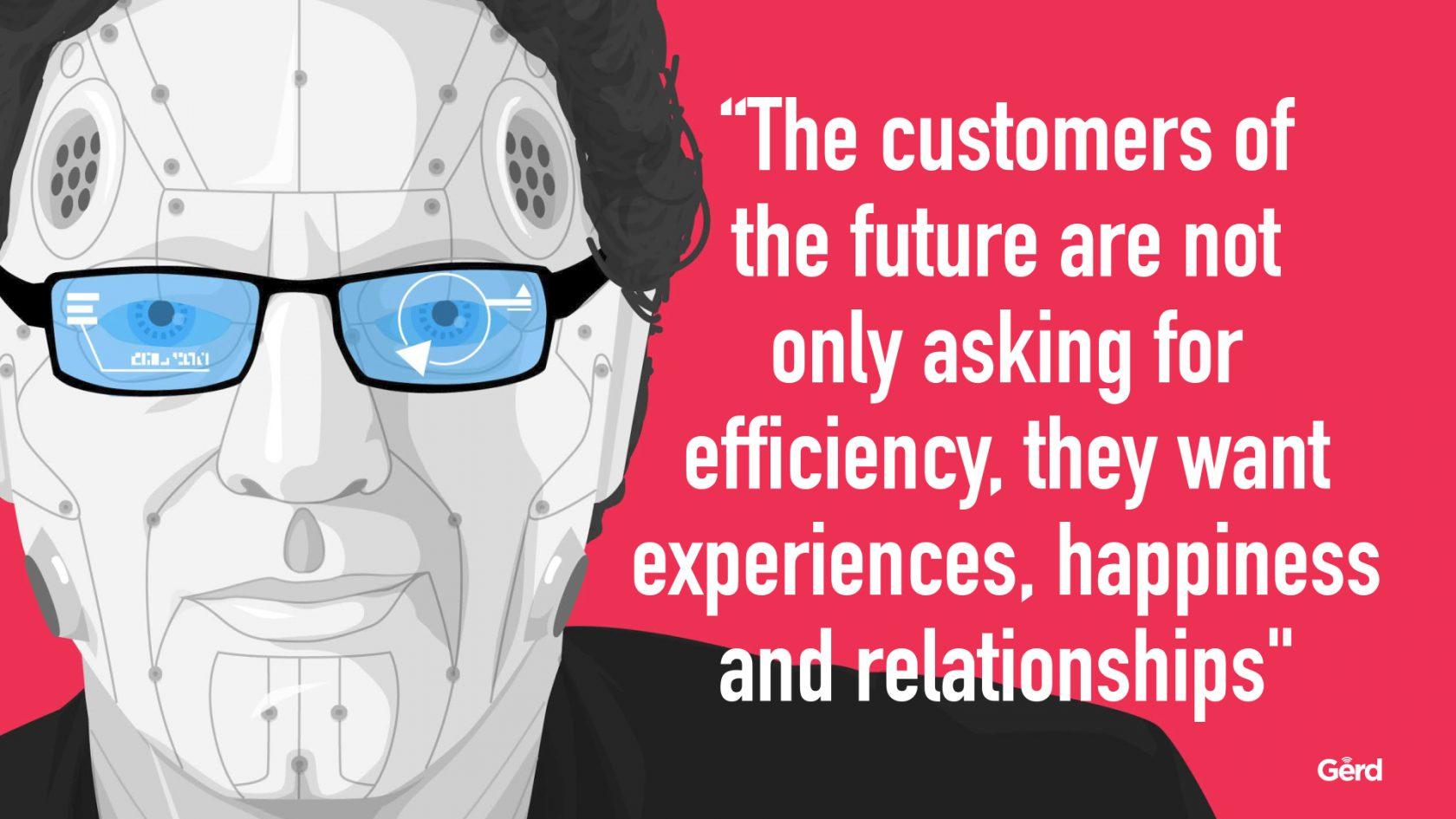 Hoe cruciaal is beleving voor je merk? - www.morethanmayo.com/beleving-voor-merk-cruciaal | image: Customers want experience, source: futuristgerd.com